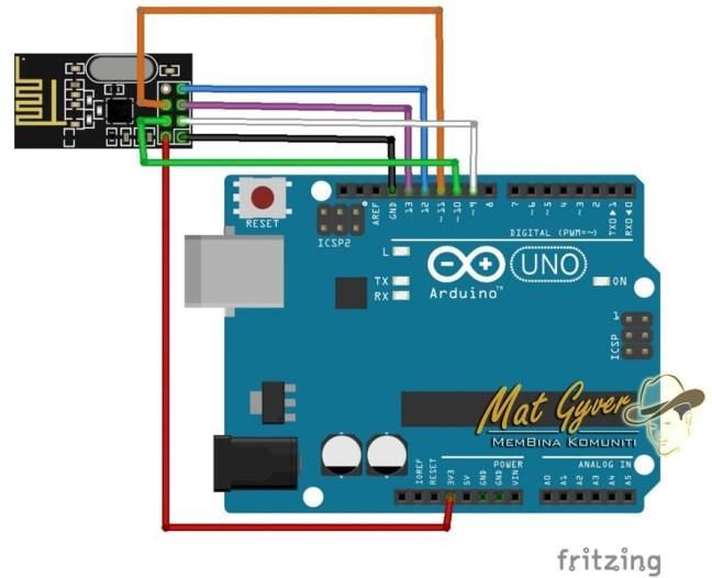 Sambungan Pada Arduino