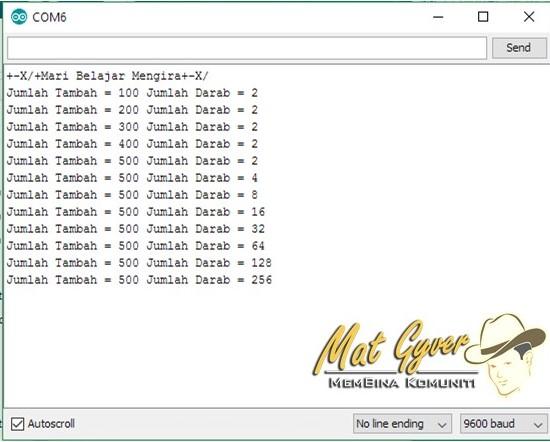Digital Input Matematik-Serial