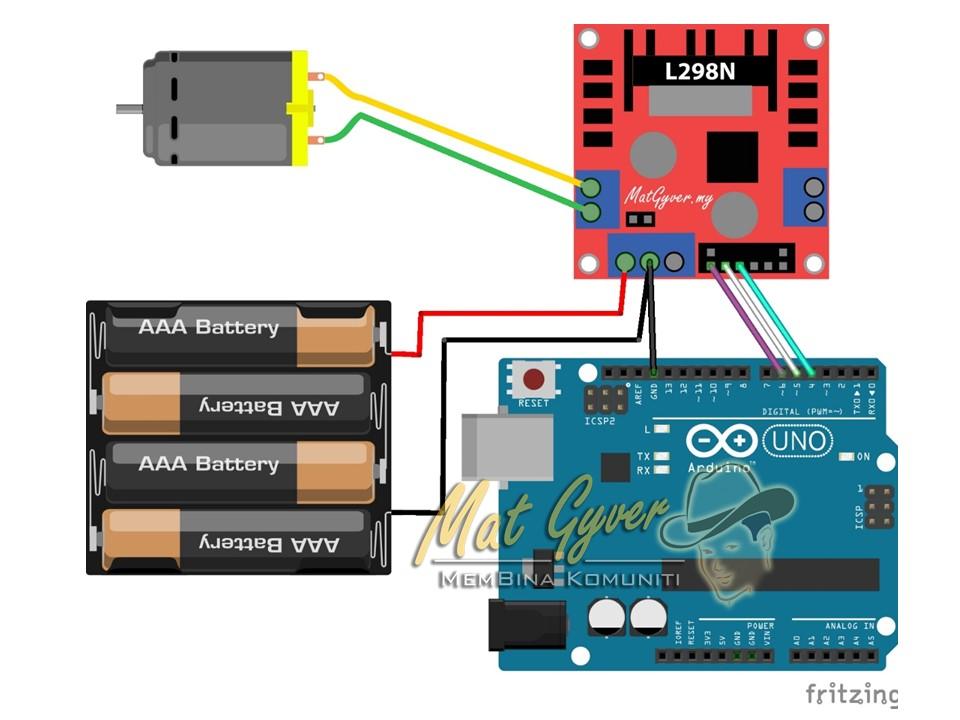 L298N Pin Signals - Diagram